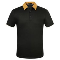 Summer Confortable Designer Hommes T-shirt Hommes Hommes bien connu Marque Polo Mode Modèle brodé T-shirt Coton occasionnel