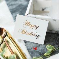 Beyaz Mini Altın Yaldız Teşekkür Kartı Valentine Mutlu Doğum Günü Noel Partisi Düğün Davetiyeleri Mektup Tebrik Kartları DBC BH4637