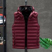 Mens Jacket Sleeveless Winter Fashion Zipper pocket Gilet Male Cotton-Padded Thicken Vest Men Waistcoat Jackets Clothing