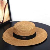 2020 новых ВС шляпы маленькой пчелы соломенных шляпы золотые плетеные шляпы женский свободный солнцезащитный крем навес кепка козырек