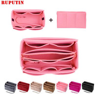 Hot Popular Womens Makeup Organizer Felt Cloth Insert Bag Mu...