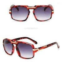 Avrupa Amerikan Trend erkek Güneş Gözlüğü Moda Retro Metal Kadınlar Büyük Çerçeve Çift Kurbağa Ayna Yuvarlak Yüz Güneş Gözlükleri UV4001