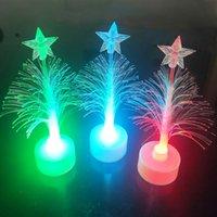 Creativo Colorido árbol de Navidad Navidad Luz Toys LED Flash Fiber Tree Decoration Decoraciones de Navidad de Acción de Gracias