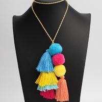 Moda Pom Pom Tassel Bolsa Larga Colgante Charm Llavero Llavero Para Joyería Key Ring Jewelry Holder QH6001 H BBYWHB