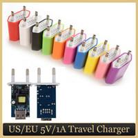 Universal EU USA Wandadapterstecker USB Home Reise Ladegerät Power Cube 1A für Smartphone Android iPhone
