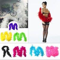 Schals Weißer Feder Schal Qualität Boa Flapper Henne Nacht Burleske Tanz Party Show Kostüm Funny Accessoires Frauen DIADEMAS1