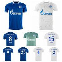 2020 2021 Soccer Schalke 04 Jersey 7 Uth 10 Bentaleb 18 Caligiuri 25 Adit 9 Raman Serdar Burgstaller Ozan Schalke Camicia da calcio Kit