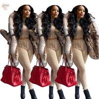 Tuta da donna Maglione a due pezzi Abiti da due pezzi Donne Vestiti invernali Set di abbinamento Plus Size Casual Street Wear Goccia all'ingrosso di alta qualità