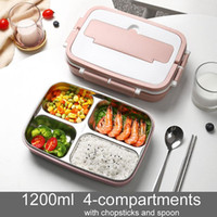 Baispo Stainless Steel Portable Lunch Box Leak Proof Bento B...