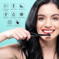 قوية بالموجات فوق الصوتية سونيك فرشاة الأسنان الكهربائية للكبار مراهقون، 5 طرق USB قابلة للشحن تبييض فرشاة الأسنان شحن USB يدوم 30 يوما