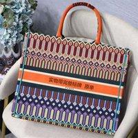 حقائب المصممين الفضلات الأزياء باريس مصمم حقائب الأزياء الرجعية نمط العرقية قماش اليدوية التطريز نمط حقيبة تسوق