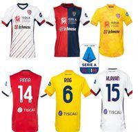 20 21 Cagliari Calcio Soccer Jerseys Centeny Kity Joao Pedro Limited Edition Nainggolan 2020 2021 Maglie DA 기념일 축구 셔츠