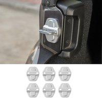 Silver ABS Lock Cover Protection Cap Decoration Cover för Jeep Wrangler JL 2018+ Auto Inredning Tillbehör