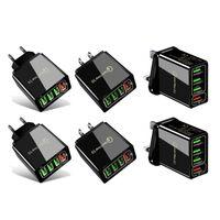 빠른 충전 3.0 4.0 USB 충전기 3.1A 빠른 벽 휴대 전화 충전기 4 포트 어댑터 QC 3.0 충전기