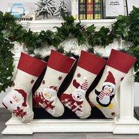 Strongwell Фестиваль Поставки Рождественская вечеринка украшения Acessories Санта Носок ручной Нетканые ткани мешок подарков детям подарки