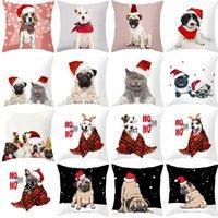 Print 2020 домашнее животное рождественские персиковый кожа плюшевые подушки для подушки к призванному подушкам корпус диван подушка