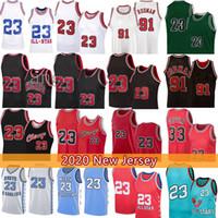 Scottie 33 Pippen 23 Jersey di pallacanestro Dennis 91 Rodman Men's Youth Kid's North Carolina State University NCAA Jerseys
