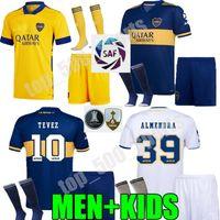 성인 어린이 키트 2020 2021 Boca Juniors 멀리 멀리 멀리 세 번째 축구 유니폼 드 Rossi Tevez Boca 20 21 노란색 Carlitos Maradona 축구 남자 셔츠