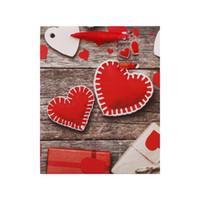 Bolsa de regalo de San Valentín Bolsa de papel Kraft blanco Corazón Impreso de la boda Fiesta de cumpleaños Favors Favores Suministros Bolsas de regalo S M L EEF3919