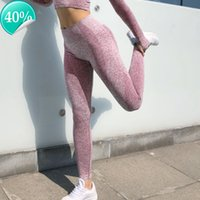 High GYM Seamless Waist Yoga Leggings Tights Women Workout Dot Breathable Fitness Clothing Female Stretchy Training Pants PW29