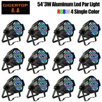 TIPTOP 12 وحدة الألومنيوم قذيفة 54x3W RGBW بقيادة ضوء الاسمية DMX أضواء المسرح المهنية DJ المعدات مروحة التبريد الطاقة الذرة
