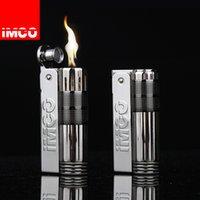 Original IMCO Retro Flint Lighter Kerosene Free Fire Grinding Wheel Gasoline Cigarette Oil Lighter Gadgets For Men Gift Stainless Steel
