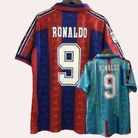 الرجعية الكلاسيكية 1996 1997 رونالدو ستيتشكوف ريفالدو بيتزا لويس أنريك فيجاني جيوفاني جيوفاني لكرة القدم الفانيلة 96/97 قميص كرة القدم الرجعية