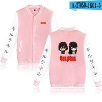 Herrenjacken Töten Sie La Jacket Anime Sweatshirt Süße Stil Mädchen Unisex Sweats Rosa Weiß Dicolor Mode Lässig Nettes Hemd XXS-XXXXL1