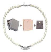 Con scatola di moda cristallo satellitare pianeta collana perla collana clavicola catena collana barocco choker per le donne regalo gioielli festa
