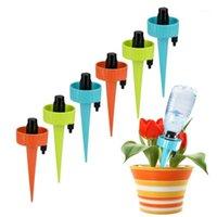Внутренний цветок автоматический поливающий капельный орошение полива устройства садовый инструмент пластиковый завод Self Tool1