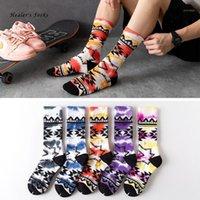 Yeni Moda Erkekler Ve Kadınlar Çorap Pamuk Renkli Geometri Kravat-Boya Harajuku Mutlu Komik Sokak Hiphop Kaykay Tüp Çorap1
