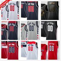 Personalizado impreso Russell 4 Westbrook Bradley 3 Beal Rui 8 Hachimura Thomas 13 Bryant Davis 42 Bertans Hombres Mujer Niños Jóvenes Baloncesto Jerseys