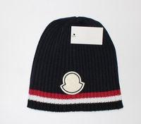 Yeni Fransa Moda Erkek Tasarımcılar Şapka Bonnet Kış Beanie Örme Yün Şapka Artı Kadife Kap Skullies Kalın Maske Fringe Beanies Şapkalar Manv