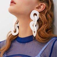 Cuelga Chandelier AENSOA Fashion Big Acrílico Geométrico Gotas Pendientes de moda Vintage Resina Cadena larga para mujeres Joyería de fiesta1