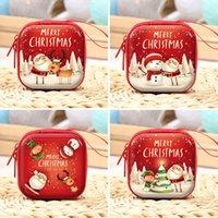 크리스마스 장식 어린이 선물 가방 동전 지갑 귀여운 창조적 인 크리스마스 산타 클로스, 눈사람 엘크 지퍼가 달린 가방 광장 이어폰 보관 가방 CZ101603