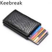 Tutucu Cüzdan Erkekler Bankası İş Kimliği Kart Sahibi Metal Kılıf Koruyucu Minimalist Ince Kredi Kart Çanta Mini1