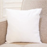 40 * 40cm transferência por sublimação Pillowcase Calor Printing fronha em branco Pillow Almofada Sem Insert para casa e jardim SEASHIPPING LJJP761-2
