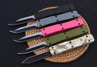 5 colori indietro spingono mini chiave fibbia autotf EDC coltello da tasca coltelli in alluminio natale lama del regalo goccia 440C tanto lama D / E