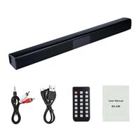 20W TV Sound Bar com e sem fio Bluetooth Speaker Surround Início SoundBar para PC Theater TV Speaker Altifalante