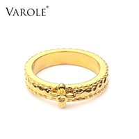 VAROLE Punk Ring Gold Color Rings For Women 2021 Fashion Jewelry Gift Accessories Anillos Mujer