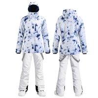 Лыжные куртки лыжный костюм для женщин зима открытый ветрозащитный сноуборд теплый утолщенный куртка снежные брюки спортивные альпийский набор