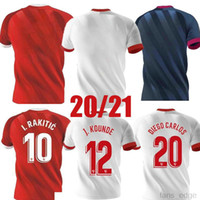 2020 2021 Sevilla Soccer Jersey Ever Banega J.Navas Nolito de Jong Ocampos Rakitic Rodriguez Custom 20 21 Hogar de la tercera camisa de fútbol