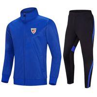 체육 빌바오 탑 달리기 남자 Tracksuit 재킷 및 바지 훈련 정장 야외 운동복 조깅 착용 성인 어린이 축구 세트