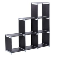 Multifunctional Assembled 3 Tiers 6 Compartments Storage She...