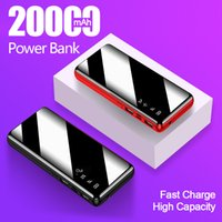 20000mAh Power Bank Fast Charging Dual USB Powerbank External Battery With LED Display Charger For All Smart Phone Free Shipping