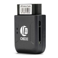 Nouveau OBD2 GPS Tracker TK206 OBD 2 Temps réel GSM quadri-bande anti-vol GSM GPRS Vibration alarme Mini GPRS dépistant GPS de voiture OBD II