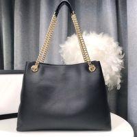 Echtes Leder Einkaufstasche Kette Umhängetasche für Frauen Mode Tragetaschen Lady Ketten Handtaschen Schaf Leder Kette Geldbörse Messenger Bag
