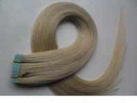 Klebeband in menschlichen Haarverlängerungen 40pcs doppelseitiges Band Haar 100g Gerade Remy auf Klebstoff Unsichtbare PU-Schussverlängerung 14 Farben wählen