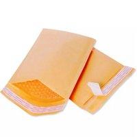 14 * 16 cm Kraft Kabarcık Zarflar Kağıt Ambalaj Torbaları Yastıklı Mailer Paket Kabarcıklar Zarf Kurye Saklama Çantası