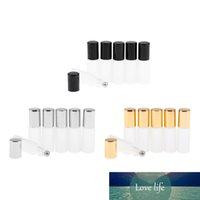 6x Cam Silindir Şişe Rulo On Kozmetik Parfüm Kapsayıcı Cilalı boş 5ml